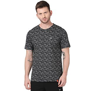 Wildcraft Men Camo Crew Neck T-shirt