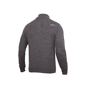 Wildcraft Men High Neck Henley Sweater - Dark Grey